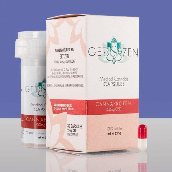 Buy Get Zen Cannaprofen CBD Capsules (750mg) Online